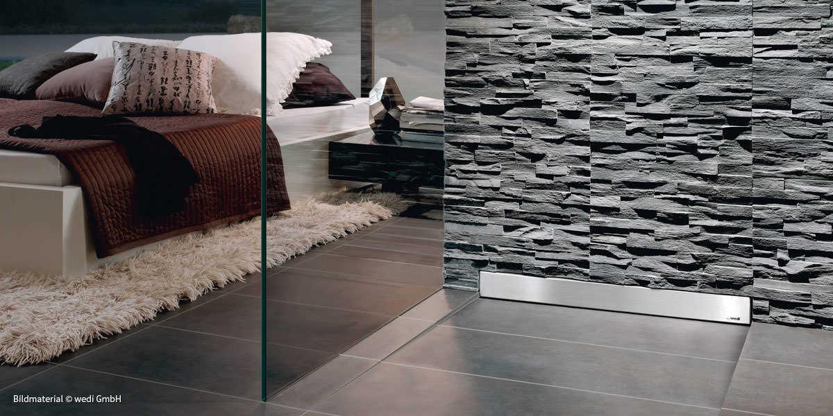 bauen mit wedi rh fliesen rautenstrauch. Black Bedroom Furniture Sets. Home Design Ideas
